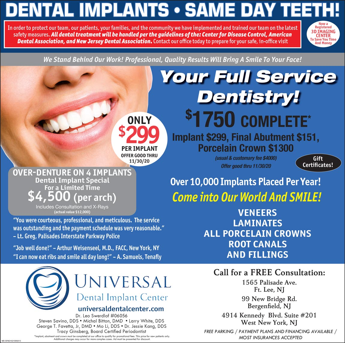 Universal Dental October Offer